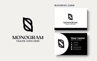 Creative Professional Trendy Monogram S B SB BS Logo Design in Black and White Color, Initial Based Alphabet Icon Logo vector