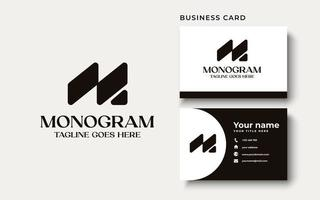 Creative Professional Trendy Monogram M Logo Design in Black and White Color, Initial Based Alphabet Icon Logo vector