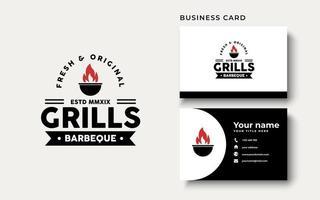 Hot Grill Logo Design Inspiration vector