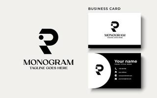 Creative Professional Trendy Monogram R Logo Design in Black and White Color, Initial Based Alphabet Icon Logo vector