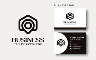 Creative Professional Trendy home point house point Logo Design in Black and White Color vector