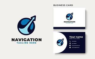 plantilla de logotipo de viajes de navegación. ilustración vectorial vector