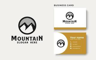 Simple mountain logo template. Vector illustration