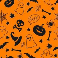 Seamless pattern with halloween elements. Halloween background. Illustration for textile, print, card, invitation, wallpaper, fabric vector