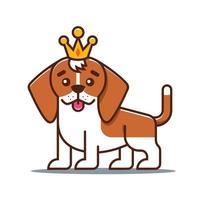 cute beagle dog. favorite pet. Flat character vector illustration.