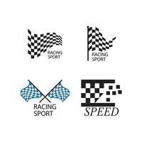 Race flag logo vector