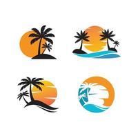 Palm tree summer vector