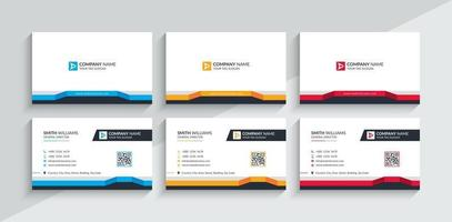 Creative And Modern Business Card Template. Stationery Design, Flat Design, Print Template, Vector illustration.