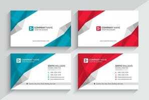 Creative Business Card Template. Stationery Design, Flat Design, Print Template, Vector illustration.