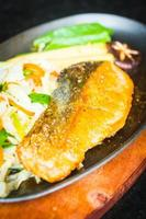 Salmon meat steak photo