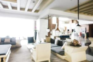 Abstract blur and defocused lobby in hotel interior photo
