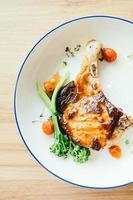 Pork chop steak photo