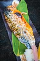 Grilled saba fish photo