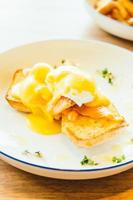 Eggs benedict with salmon photo