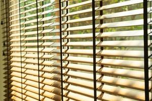 Close-up bamboo blind, bamboo curtain, chick, Venetian blind or sun-blind - soft focus point photo