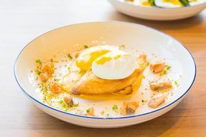 Egg benedict with salmon photo