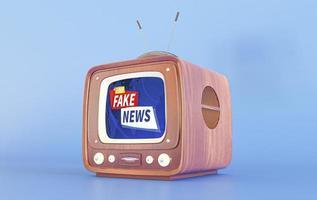 Retro tv with fake news. High quality beautiful photo concept