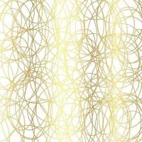Gold luxurious line pattern with hand drawn lines. Golden wavy striped, Abstract background, vector illustration