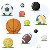 juego de bolas de deporte vector