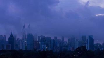 Time Lapse of Cloudy Kuala Lumpur Sunrise video