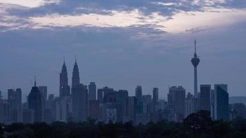 Time Lapse of Sunrise Kuala Lumpur video
