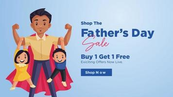 Happy father's day sale banner design template vector