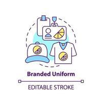 Branded uniform concept icon vector