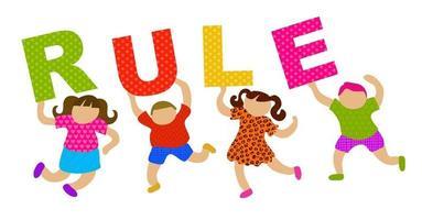 Happy Kids Rule Text vector