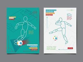 layout football, soccer design template, vector