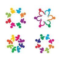 Community care logo images design vector