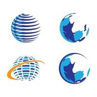 Globe logo images vector