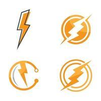 Lightning logo images vector