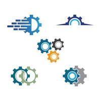 Gear logo images vector