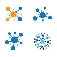Molecule logo design vector