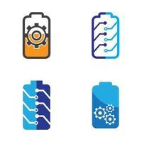 Battery logo images illustration vector