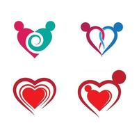 Love logo images vector