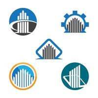 Real estate logo images vector
