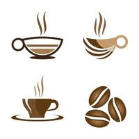 Coffee cup logo images vector