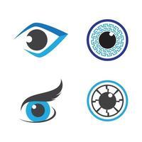 Eye care logo images vector
