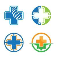 Medical care logo images vector