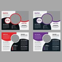School Admission Trifold Brochure Design Template vector