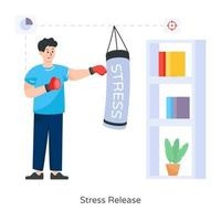 golpe de liberación de estrés vector