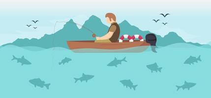Summer template for banner, social media, greeting card. vector illustration