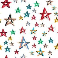 impossible star seamless pattern vector