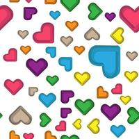 impossible colorful heart seamless pattern perfect for background or wallpaper vector