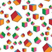 colorful cube seamless pattern perfect for background or wallpaper vector