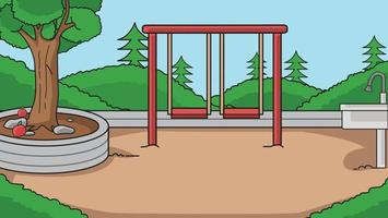 vector illustration background in the park,playground kid.Kids play .
