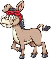 Female cartoon donkey vector