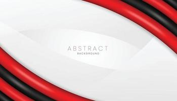 red and black realistic 3d abstract background banner concept vector