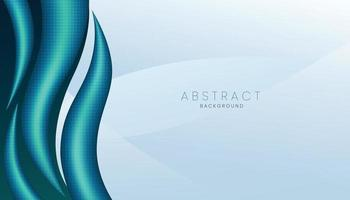 blue realistic 3d abstract background banner concept vector